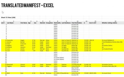 Translated Manifest – Excel
