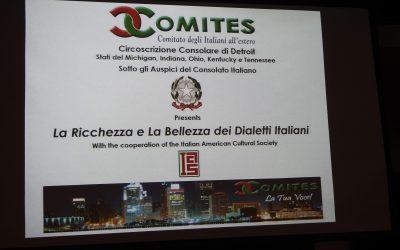 Il Com. It.Es di Detroit ha presentato un'evento di grande successo domenica 21 ottobre 2018, sulla richezza dei dialetti Italiani.