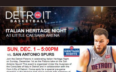 ITALIAN HERITAGE NIGHT – DETROIT PISTONS