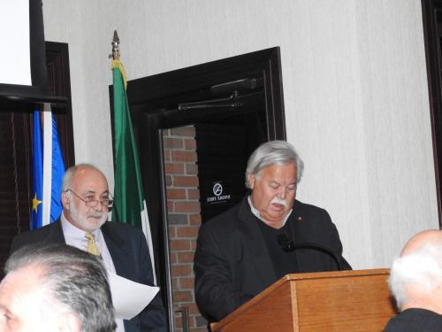 """Qui vediamo ancora la regione Campania che conclude questo programma con """"A Livella"""" di Antonio DeCurtis, detto Totò che viene egregiamente presentata dal Cav. Lino Scamardella  a destra ed ilProf. Franco Iaderosa."""